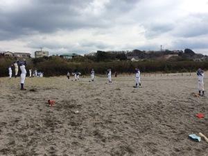 3/10土曜日、浜で練習